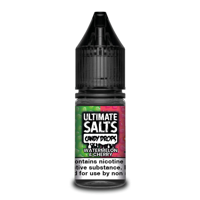 Watermelon & Cherry 10ml Nicotine Salt by Ultimate Salts Candy Drops