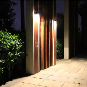 Solar Fence Lights Outdoor Garden Semicircular Wall Light Waterproof Mount Deck Lighting Decorative Step Light for Wall Pathway Driveway Patio Yard