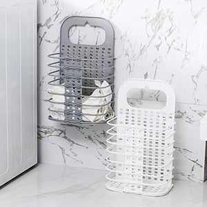 Folded hollow laundry basket