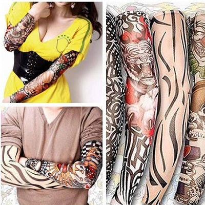 (buy four free shipping)Cool sunscreen tattoo sports cuffs