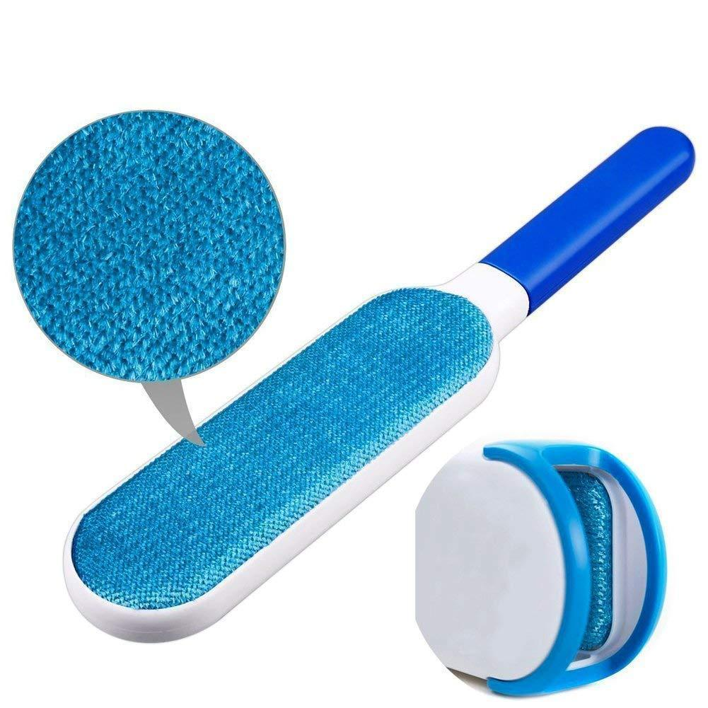Brush for Pet Hair and Lint Remover with Self-Cleaning Base - Cat Hair and Dog Hair Removal Brush for Clothes, Furniture and Carpet-No Sticky Rollers,Fur Remover & Cleaner for Pets