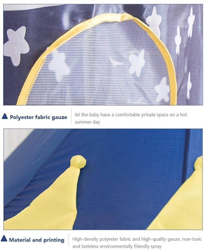 Kids Tent Toy Prince Playhouse - Toddler Play House Blue Castle for Kid Children Boys Girls Baby for Indoor & Outdoor Toys Foldable Playhouses Tents with Carry Case Great Birthday Gift