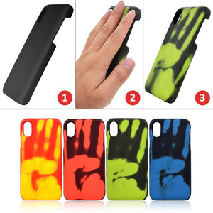 Thermally sensitive color mobile phone case