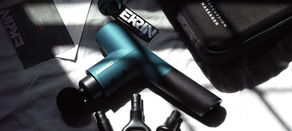 Ekrin B37 massage gun with attachments and travel case