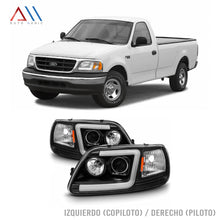 Load image into Gallery viewer, Faros con lupa tubo led F150 Lobo 1997-2008