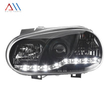 Load image into Gallery viewer, Faros con lupa tira leds Golf A4 1999-2005