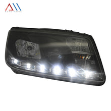 Load image into Gallery viewer, Faros con lupa tira led Jetta A4 1999-2007