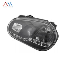 Load image into Gallery viewer, Faros con lupa tira leds Golf A4 1999-2005 eco.