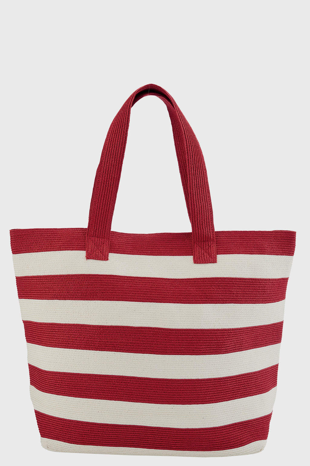 Womens Wide Stripe Tote Bag (BSB1556)-TOTE-BaySky