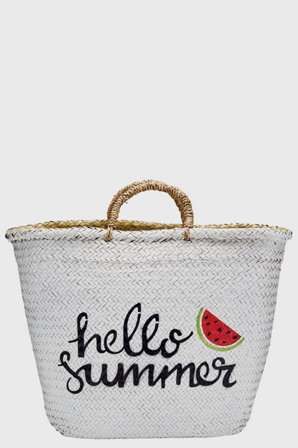 BaySky woven seagrass with painted exterior hello summer-TOTE-BaySky