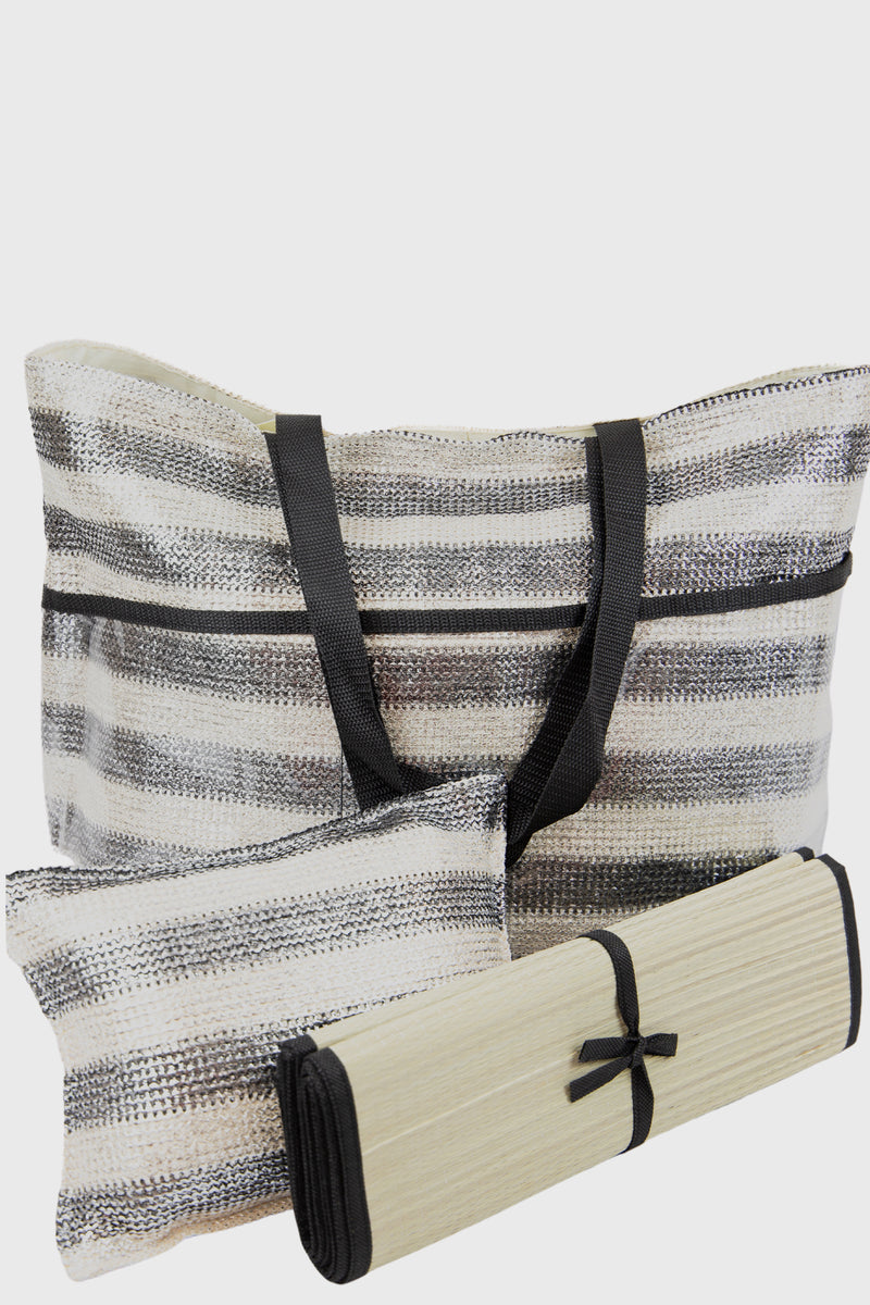 Women's 3 Pieces Set : Tote, Pillow & Mat (BSB1743)-TOTE-BaySky