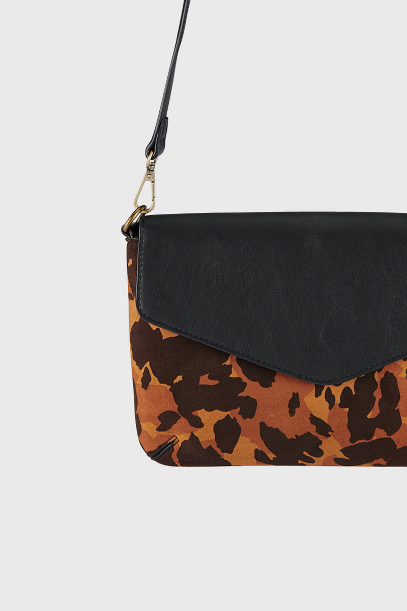 Printed Faux Suede&Smooth Pu Leather Crossbody (BSB3730)-CROSSBODY-BaySky
