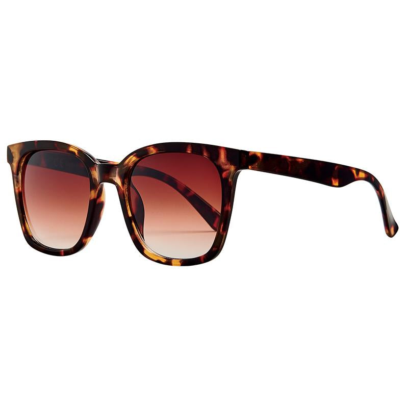 Squared Tortoise Cat Eye With Brown Gradient Lens (Bsg1125)-SUNGLASSES-BaySky