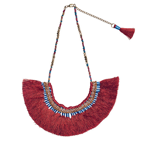 STATEMENT FRINGE WITH RHINESTONE NECKLACE (BSJ3500)