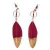 Feather Earring with Gold Dip (BSJ3503)