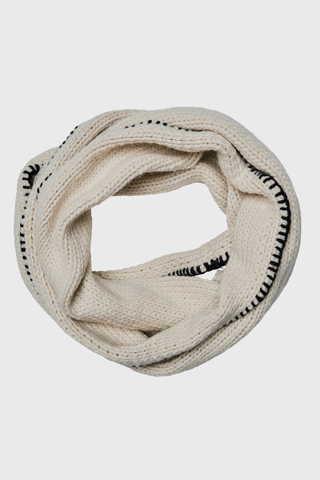 Knit Infinity Scarf With Whip Stitch (BSS3452OS)-SCARF-BaySky