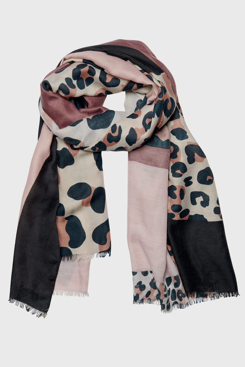 Womens Lightweight Mix Color Animal Print Scarf (Bss3701)-SCARF-BaySky