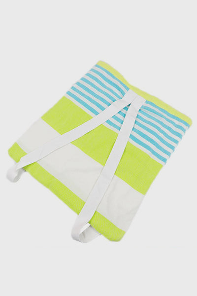 2-in-1 Cotton Bag and Blanket in Lime