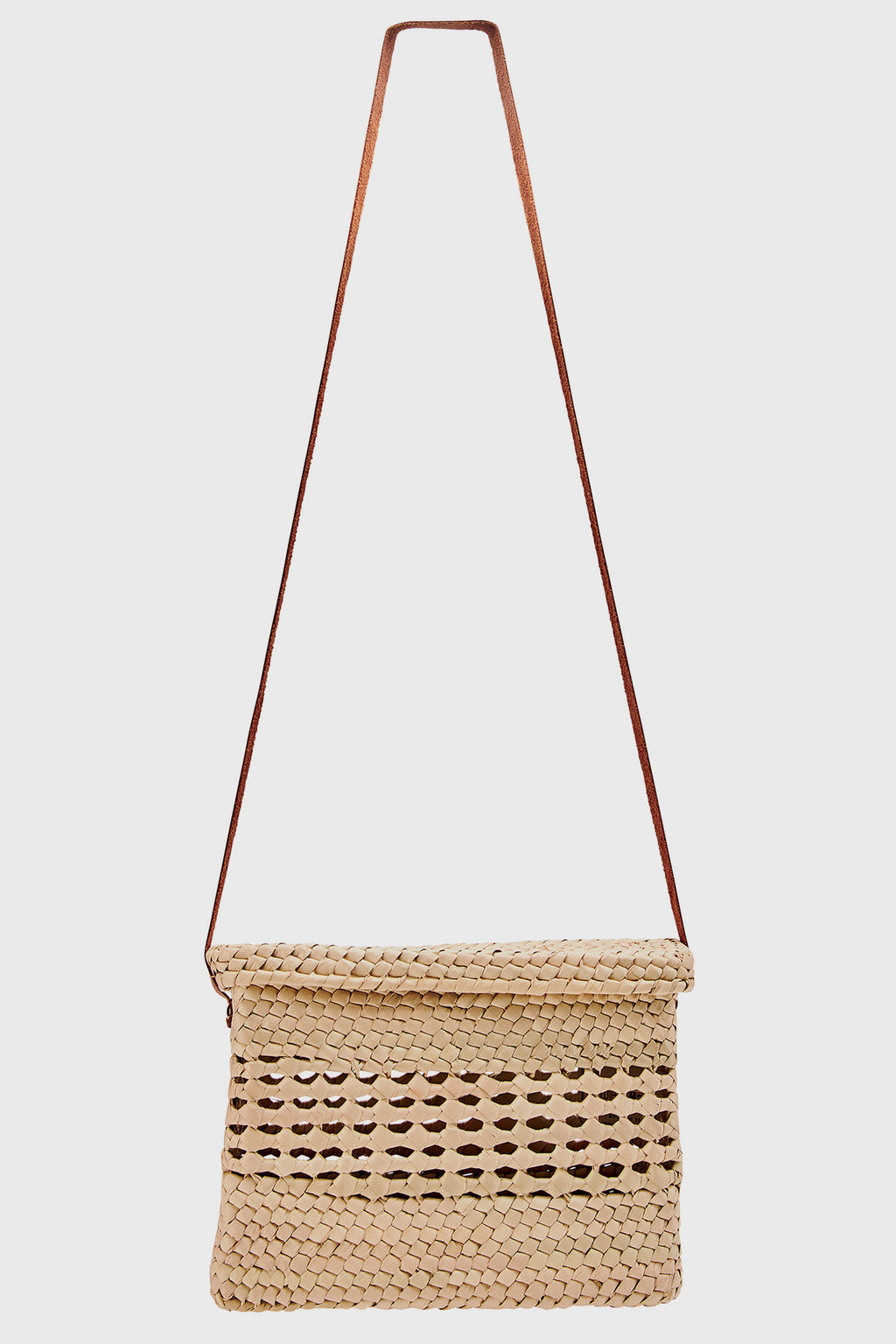 Women's Crochet Palm Straw Crossbody (BSB1750)-CROSSBODY-BaySky