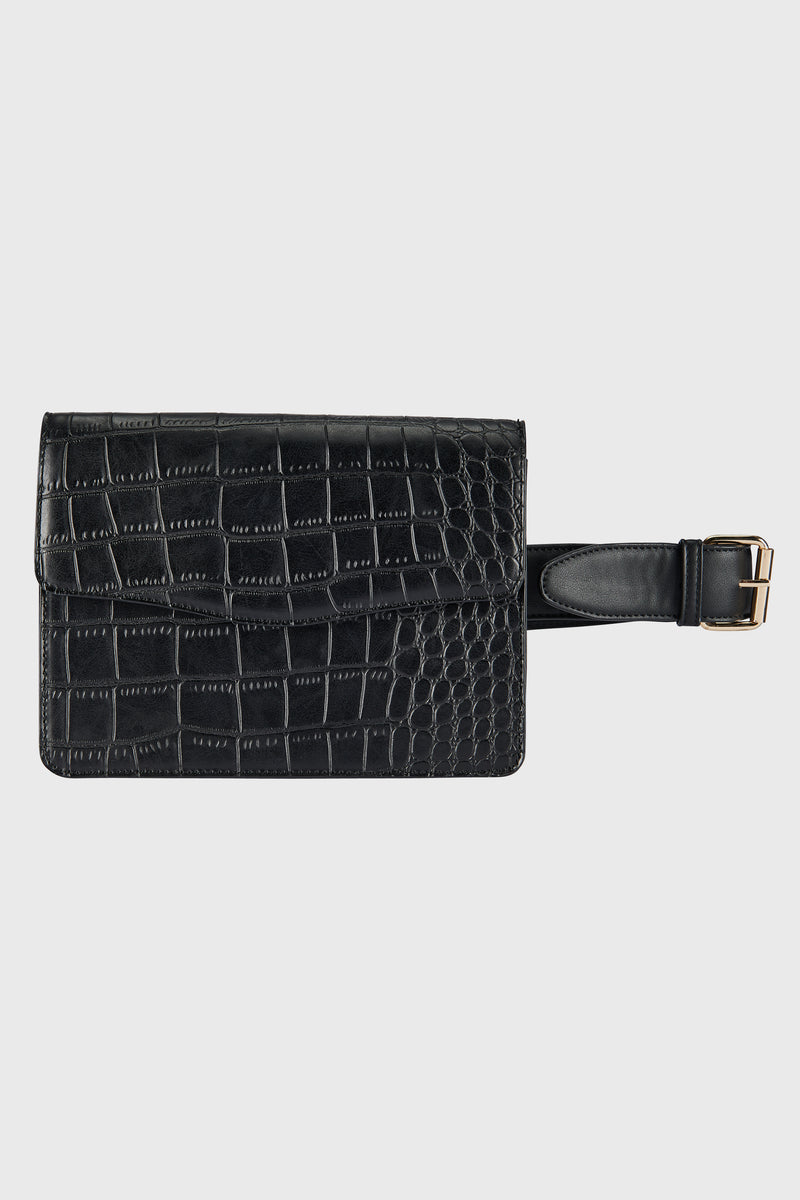 Croc & Smooth Pu Leather Clutch (BSB3737)-CLUTCH-BaySky