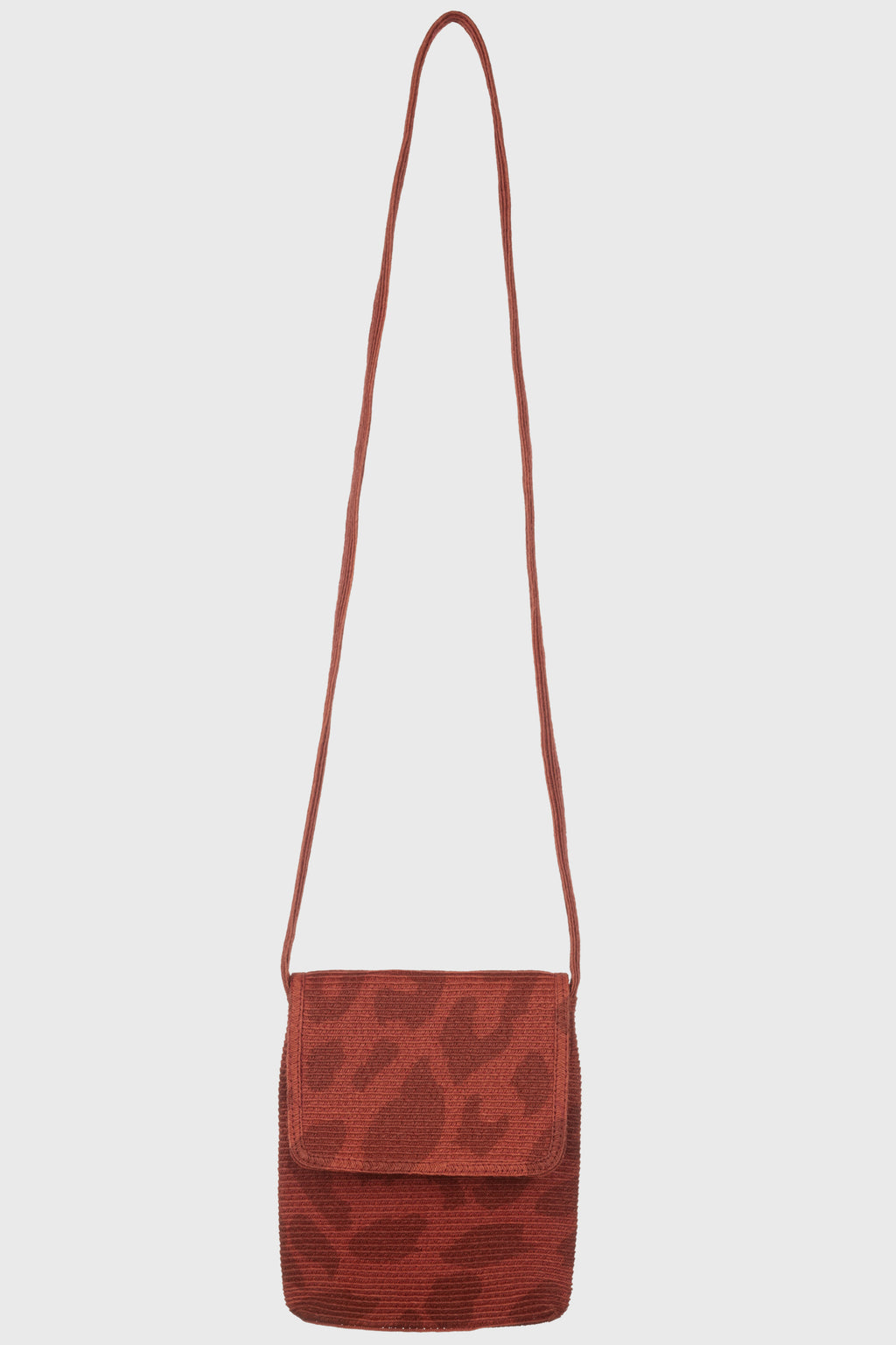 Leopard Printed Crossbody With Flap & Zip Closure Red (BSB3743)-CROSSBODY-BaySky