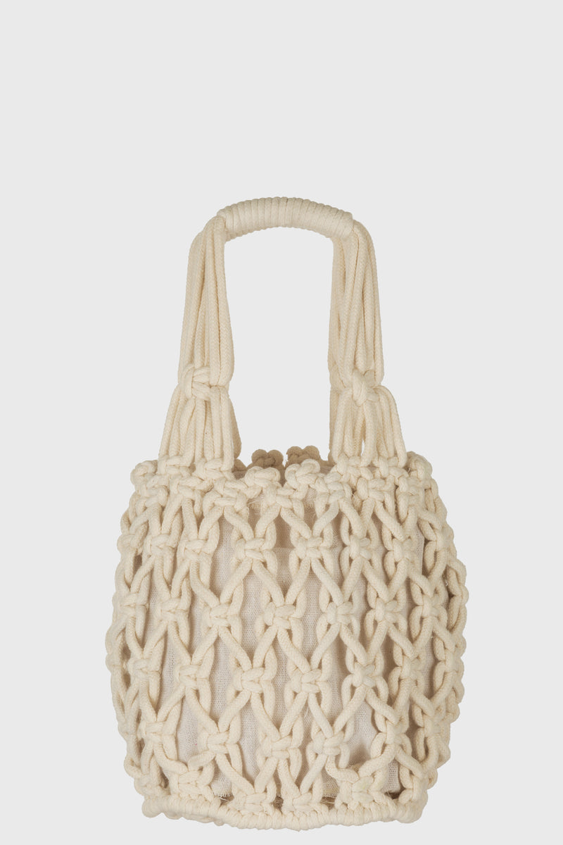 Crochet Net Bag With Top Handle (BSB3751)-NET BAG-BaySky