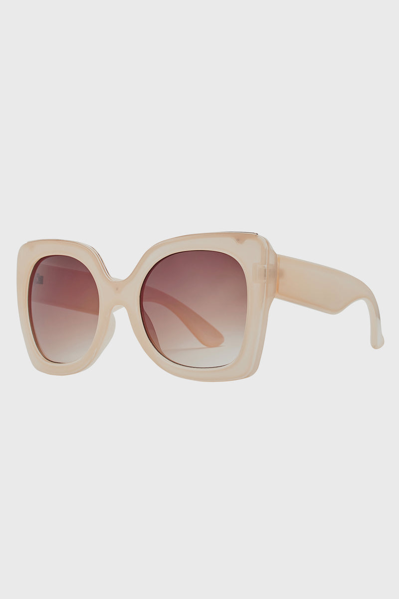 Oversized Sunglass With Brown Tint (BSG1086)-SUNGLASSES-BaySky