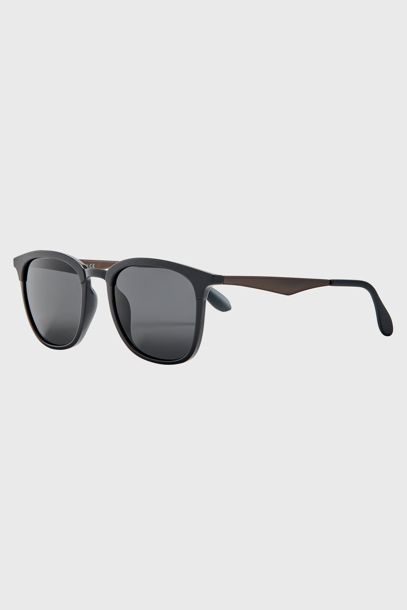 Clubmaster Frame With Multi Color Gradient Lens (Bsg1143)-SUNGLASSES-BaySky