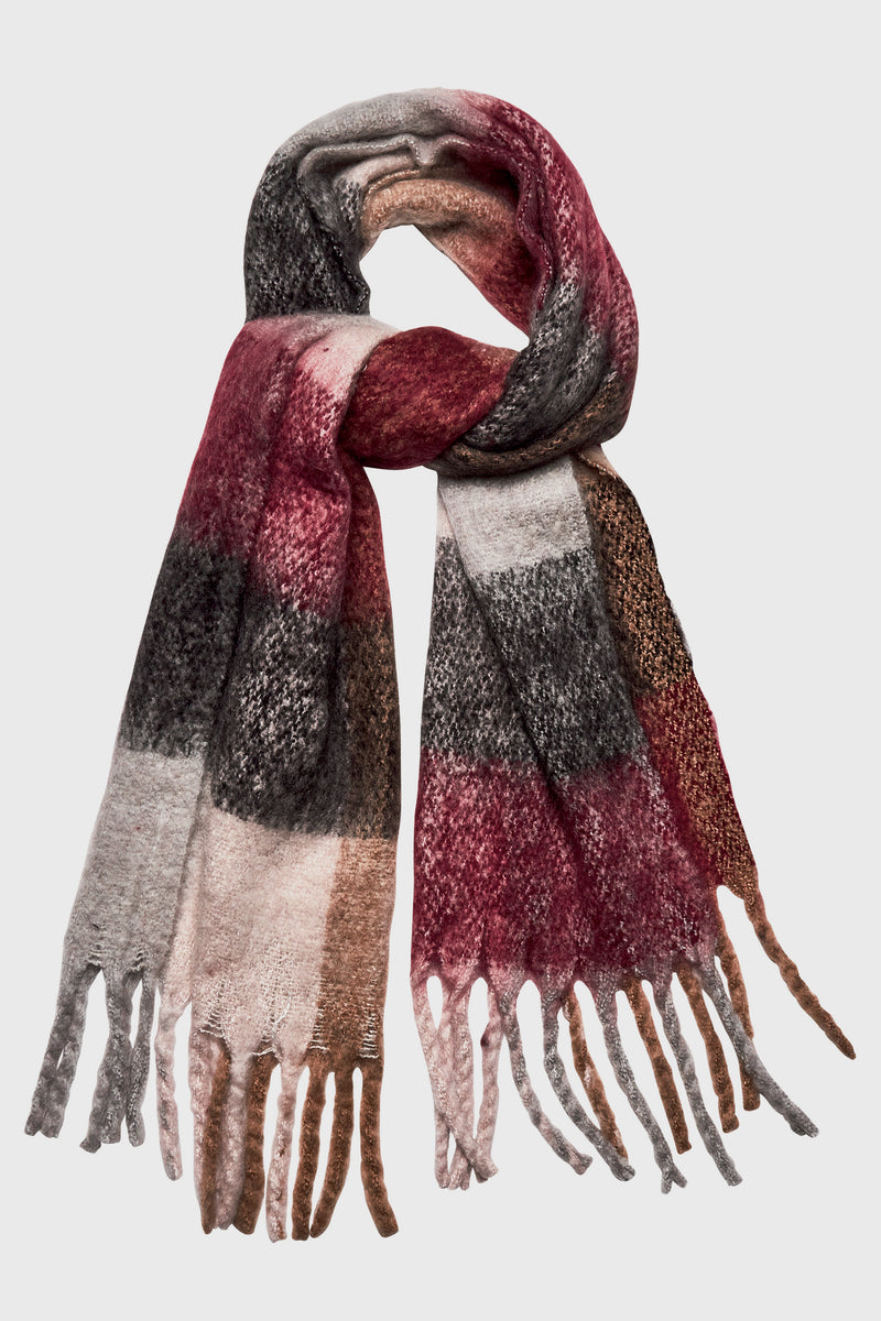 Oversized Plaid Scarf (BSS3540OSRED)-SCARF-BaySky