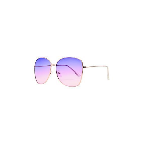Sunglasses - WOMENS METAL SQUARE FRAME WITH MULTI COLOR TINT (BSG1055)