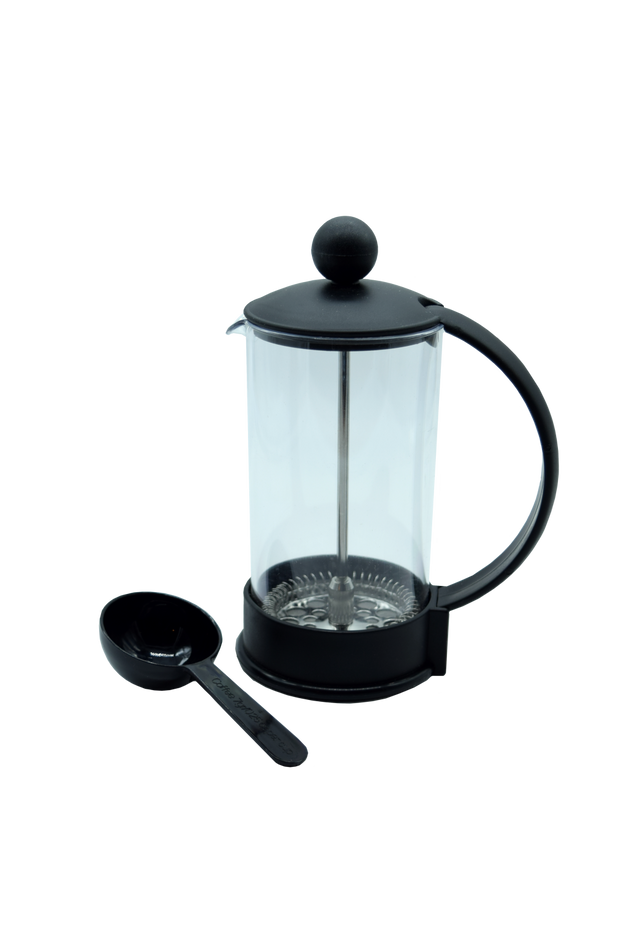 3 cup cafetiere plastic black small
