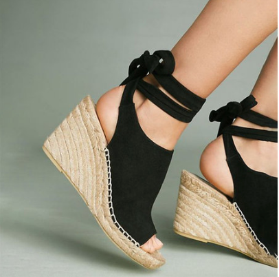 Women Peep Toe Low Heels - Krystel's Boutique