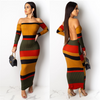Colorful Stripe Ribbed Dress