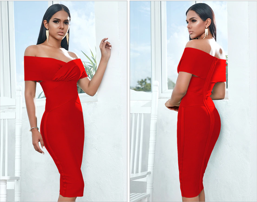 Short Sleeve Bandage Dresses