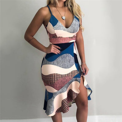 Women Patchwork Dress⎟Krystel's Boutique