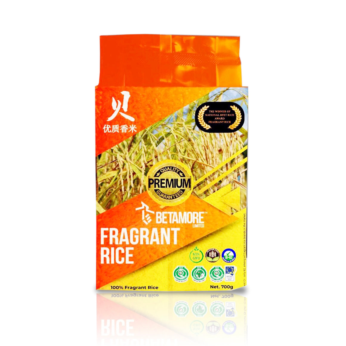 4 Packs Betamore Premium Fragrant Rice - 700g