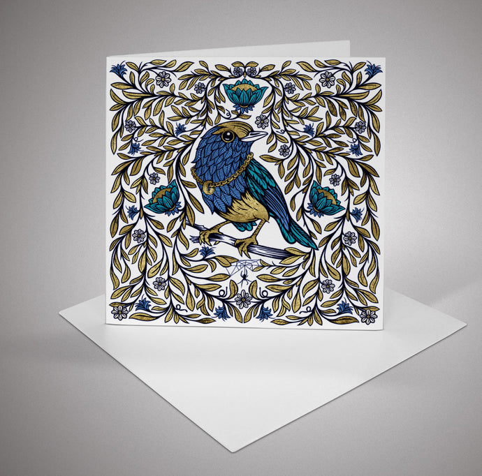 Blue Bird Cards (pack of 6)