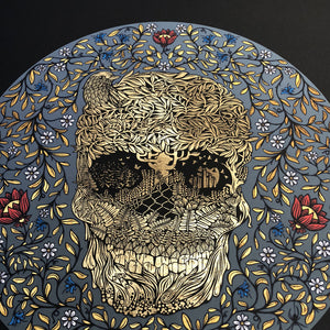 Hedgerow Skull (Black-on-Black Edition)
