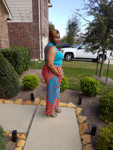 Ankara Blue and Orange Pants