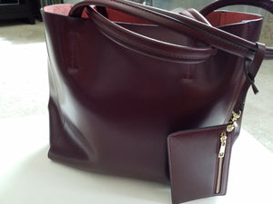 Modern Ladies Handbag from Genuine Leather (wallet included) - ENUBEE