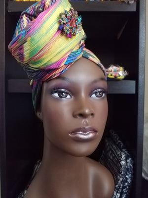 African Patterned Head Scarf - ENUBEE