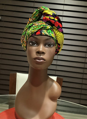 African Style- Waxprint Head Scarf /Tie