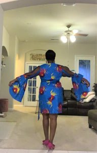 African Style: Ankara Dress Wrap Style (African Waxprint fabric)
