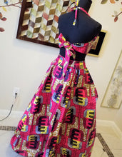 NEW DESIGN! Beautiful patterned skirt and halter top, African (One full size) - ENUBEE