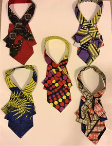 Collars in African Waxprint