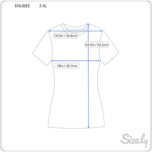 Enubee Sexy Black Woman T Shirts- (short sleeve White)