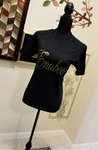 Enubee Rhinestone design T Shirts- (short sleeve Black) - ENUBEE