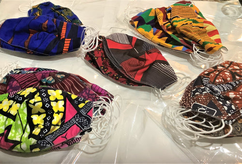 African Style Facemasks- African Fabric