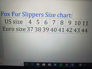 100% Fox Fur Slippers Multi - ENUBEE