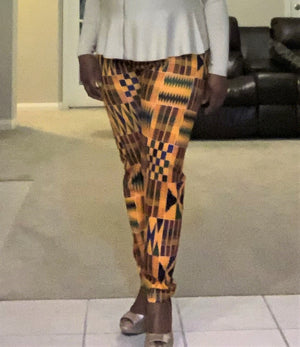 African Style: African print jeggings